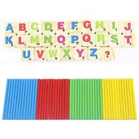 New Baby Toys Early Kids Math Learning Counting Educational Toy for Children Wooden Numbers Mathematics Toys with Iron Box