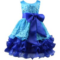 Summer Lace Bow Decoration Kids Girls Clothes Dresses Baby Girl Clothing Princess christmas Party Dress vestido infantil
